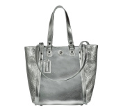 SILVIO TOSSI Women's Shoulder Bag Silver Metallic-Silber