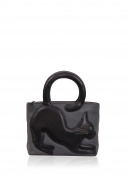 Real Leather Ladies Yoshi Cole Cat Grab Bag in Black ladies fashion