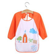 Bluelans® Cute Cartoon Baby Waterproof Long Sleeve Bib / Apron / Smock