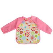 Gemini® Baby Cute Cartoon Waterproof Long Sleeve Bib Apron Smock