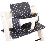 Highchair cushion Ukje Stokke Tripp Trapp - Grey small stars - Coated