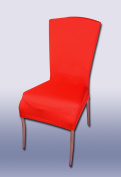 SVI Spandex Stretch Dining Chair Cover Machine Washable Restaurant For Weddings Banquet Folding Hotel Chair Covering red conventional