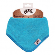 XKKO Cyan Bandana - Pack of 3 Bamboo Bandana Bib, Blue