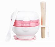 Practical Baby Food Grinding Bowl Grinder Food Mill for Making Baby Food, Pink