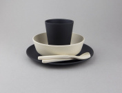 BoBo and Boo Bamboo 5 Piece Dinner Set - Monochrome