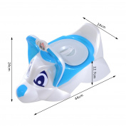 HOMCOM Baby Toilet Seat Toddler Potty Training Seat Trainer Chair with Removable Potty Lid