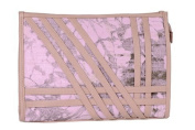 Canvas Pink Toiletry Bag with Decorative Strap