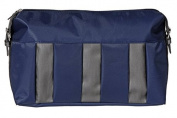 Culture Bag Polyurethane with Nylon/Blue with Stripes