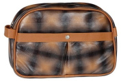 Toiletries Bag orange kariert