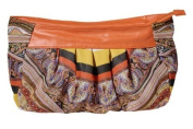 P & P Accessories Culture Bag Polyurethane with Chiffon/Orange Pattern