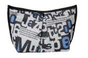 P & P Accessories Polyester Toiletry Bag Black/Grey