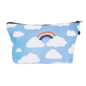 Mens Ladies Toiletry Bag Vanity case, make up, purse, pencil case, phone handbag, jewellery pouch NEW! Rainbow Clouds [009]
