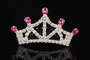 Lovelyshop Mini Rose Star Rhinestone Tiara for Birthday Party, Prinecess Crown