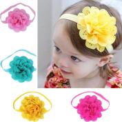 FEITONG 4Pcs Baby Girls Flower Headbands Photography Props Headband Accessories