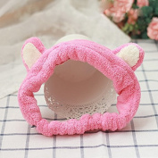 Cute Lovely Flannel Cat Ears Wash Makeup Hair Band Shower Band Headband