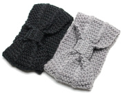 Take a Bow Ladies Wide Cosy Boho Bohemian Knit Sweater Winter Wide Headband Headwrap Ear Warmer