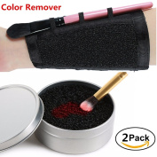 2 pcs Set Makeup Brush Colour Remover & Makeup Brush Colour Switch Sponge Cleaner Makeup Brush Colour Cleaning Eyeshadow Cleaner Dry