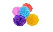 2pcs Colourful Hair Head Body Scalp Washing Hair Washing Massage Shampoo Brush Comb