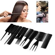 Biutee 10pcs Professional Hair Combs Kits Salon Barber Comb Brushes Anti-static Hairbrush Hair Care Styling Tools Set