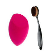 2pcs/set Makeup Foundation Brushes Toothbrush Oval Brush Make up Sponge Blender Blending Cosmetic Puff Facial Cosmetic Tools