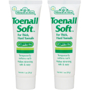 (Set/2) Miracle Of Aloe Toenail Softening Cream For A Safe Trim - 30ml Tubes