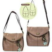 Chala Charming Crossbody Bag with Sea Turtle - Brown