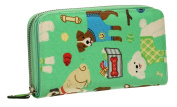 Ryder Dogs Pups Print Oil Cloth Ladies Womens Girls Folding Zip around Wallet - SS