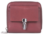 Borgasets Women's Leather Trifold Wallet With Zipper Coin Purse and Credit Card Holder