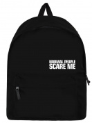 Normal People Scare Me Backpack Black