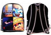 World of Warriors Brutus Kuro Mungo and Lance Large Sports Backpack School Bag
