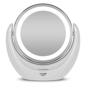Hangsun LED Makeup Mirror B99 Illuminated Cosmetic Bathroom Mirror Double Sided with 5 x Magnification