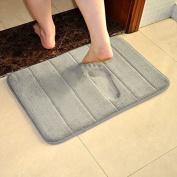 VANRA Bath Mat Bath Rugs Anti-slip Bath Mats Anti-bacterial Non-slip Bathroom Mat Soft Bathmat Bathroom Carpet for Baby Kids Safety with Memory Foam Coral Velvet Fabric