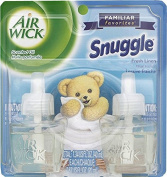 Air Wick Scented Oil Twin Refill, Snuggle Fresh Linen, 20ml, 2 Total Refills