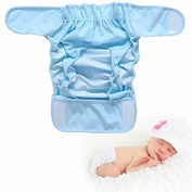 Pure Cotton Baby Cloth Nappy Cover Baby Nappy Waterproof Breathable Bag 3 Sizes 3 Colours Washable Adjustable Breathable Cloth Nappy for 0-6 Months Baby Boys and Girls