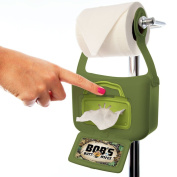 New! Bob's Butt Wipes™ Green Hanging Flushable Wipe Dispenser & 42ct Wipes