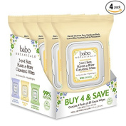 Babo Botanicals 3-in-1 Moisturising Sensitive Baby Cleansing Wipes for Face/Hands/Body, Oatmilk & Calendula, 30 Count