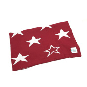 Reversible Knitted Cotton Blanket/Throw - Stars