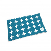 Reversible Knitted Cotton Blanket/Throw - Blue cross
