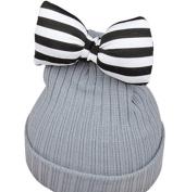 baby hat cute butterfly-knot kids woollen hat kids warm crochet hat kawaii baby winter hat girls