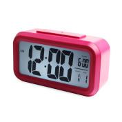 Tuscom 1PC LED Digital Snooze Alarm Clock Light Control Backlight Time+Calendar