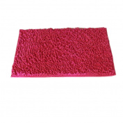 M-Egal Chenille Mats with Solid Colour Non-slip Mats for Bedroom Kitchen Bathroom rose