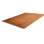 M-Egal Plush Soft Mats with Solid Colour Non-slip Mats for Door Bedroom Living Room khaki & 4060cm