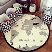 Hiltow World Rug Kids Rug Child Game Mats diameter 130cm