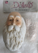 MANGELSENS Craft SET of 1 PORCELAIN SANTA Doll HEAD 10cm (Pack SIZE 7.6cm - 1.3cm ) and PAIR of HANDS Each 5.1cm - 1.9cm Long