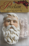 PORCELAIN COLLECTION Craft SET of 1 PORCELAIN SANTA Doll HEAD 7.6cm - 1.3cm and PAIR of HANDS Each 5.1cm - 1.3cm Long