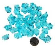 0.5kg Translucent Turquoise Acrylic Ice Rock Vase Fillers and or Table Decorations