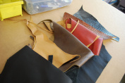 Leather Scraps Cow Skin Upholstery Leather 0.9kg