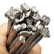 Alloy Leather Tools 20pcs/LOT DIY Leather Working Saddle Making Tools Set Carving Leather Craft Stamps Set Craft