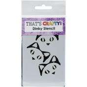 That's Crafty Dinky Stencil 7.6cm x 12cm -Cheeky Cat