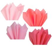 Light Pink Blush Rose Assorted Mixed Colour Mulit-Pack Tissue Paper for Flower Pom Poms Art Craft Wedding Bridal Baby Shower Party Gift Bag Basket Filler Decoration